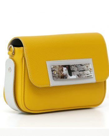 Bags by Kristina yellow leather belt bag