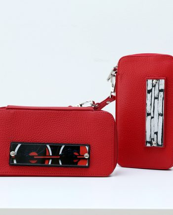 Bags by Kristina red leather wallet