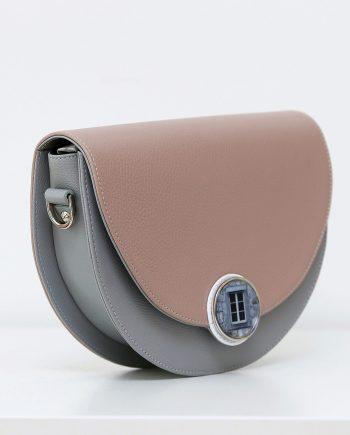 Bags by Kristina pink leather saddle bag Signorina