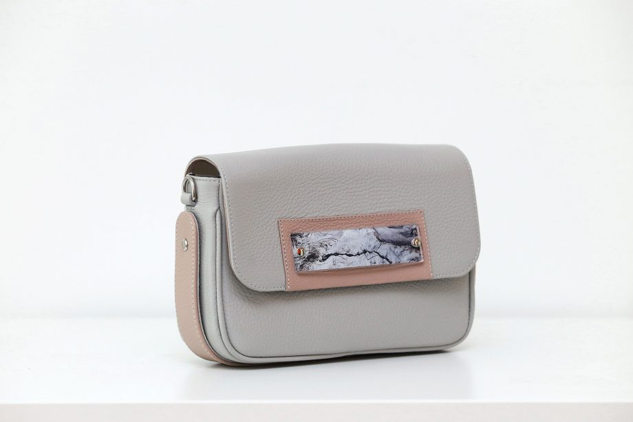 Bags by Kristina grey leather belt bag