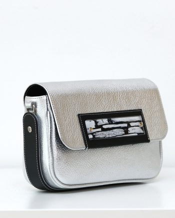 Bags by Kristina silver leather belt bag