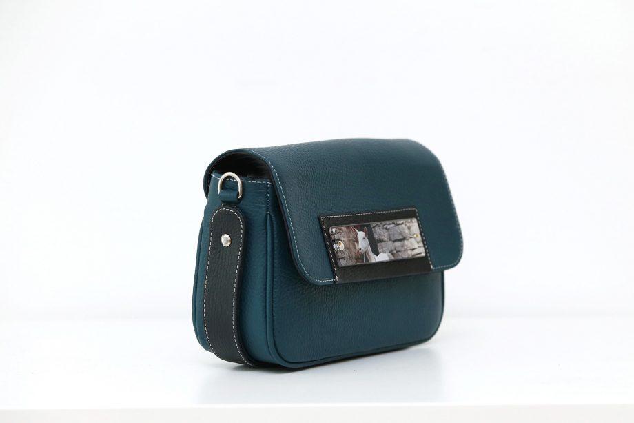 Bags by Kristina blue leather belt bag